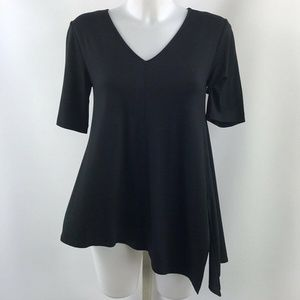St. John Black Asymmetrical Top Size XS